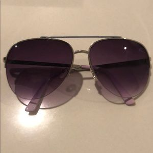 Purple glasses with heart on the side